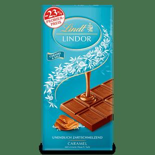 LINDOR Tafel Caramel & Salz, 100g (Aktion)