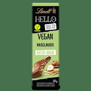 HELLO Vegan Haselnuss Tafel, 100g