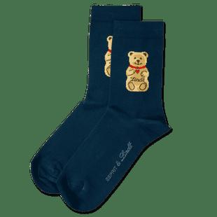Teddy-Söckchen dunkelblau, Größe 39 - 42