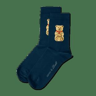 Teddy-Söckchen dunkelblau, Größe 31 - 34