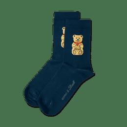 Teddy-Söckchen dunkelblau, Größe 27 - 30