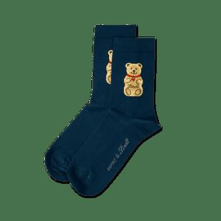 Teddy-Söckchen dunkelblau, Größe 23 - 26