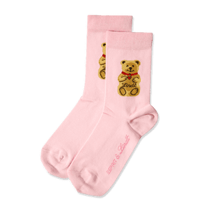 Teddy-Söckchen rosa, Größe 31 - 34