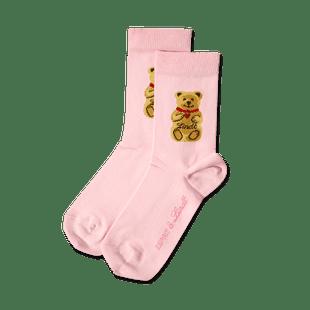 Teddy-Söckchen rosa, Größe 27 - 30