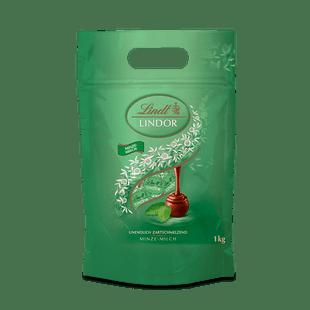 LINDOR Kugel Beutel Minze Milch, 1000g