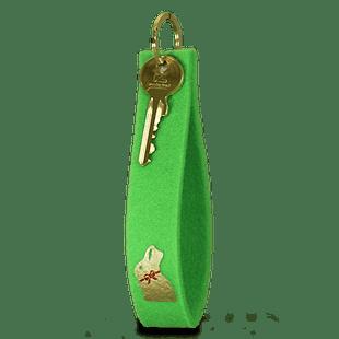 Goldhasen-Filz-Schlüsselanhänger Grün
