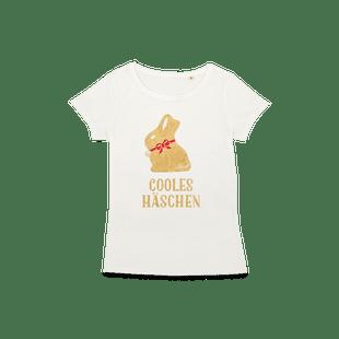 """Frauen T-Shirt """"Cooles Häschen"""", Größe L"""
