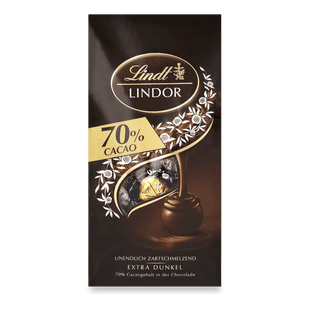 LINDOR Kugel Beutel Extra Dark 70%, 136g
