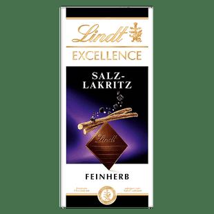 eine Tafel von EXCELLENCE Salz-Lakritz Schokolade